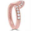 1/2 cttw 14k Rose Gold Diamond Curved Contour Band For Forever Us 2 Stone Ring