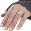 Forever Us Two Stone Round Diamond 1 Ct Solitaire Ring 14k White Gold ((G-H), SI1-SI2)