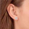 "1/3 Ct Diamond Pave Studs 14k White Gold Womens Earrings 1/3"" (I, I2)"