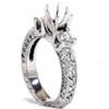 1 1/8ct Vintage Accent Diamond Ring 14K White Gold (G/H, VS)