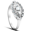 1/2ct Diamond 14K White Gold Antique Anniversary Right Hand Fashion Ring (G/H, I1)
