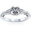 1/10ct Diamond Vintage Engagement Setting Platinum (G/H, SI1-SI2)