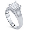 1/2ct Solitaire Princess Cut Diamond Engagement Ring 14K White Gold (G/H, I2-I3)