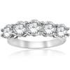 3ct Diamond Five Stone Wedding Ring 14K White Gold (G/H, I1-I2)