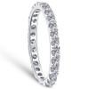 7/8 ctw Diamond Eternity Ring Stackable French Prong Wedding Band 14k Gold White (I/J, I1-I2)
