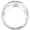 3/4ct Diamond Mens 14K White Gold Wedding Ring (H, I1)