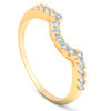 .25CT Curved Diamond Notched Wedding Ring Enhancer 14K (G/H, I1)