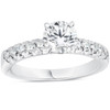 1 3/8ct Pave Enhanced Diamond Engagement Ring 14K White Gold Vintage Antique ((G-H), SI(1)-SI(2))