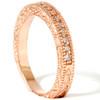 1/4ct Engraved Diamond Ring 14K Rose Gold (G/H, I1)