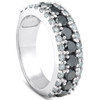 1 5/8ct Black & White Diamond Womens Wedding Anniverary Ring 14K (G/H, AAA)