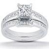 1ct Princess Cut Channel Set Diamond Wedding Engagement Ring 14K White Gold (H, I2)