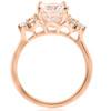 2 1/3 cttw Oval Morganite & Diamond Engagement Ring 14k Rose Gold (H/I, I1-I2)