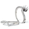 1/2ct Semi Mount Engagement Curve Wedding Ring Set 14K (G/H, I1)