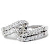 1/2ct Semi Mount Engagement Curve Wedding Ring Set 14K (G/H, I1)
