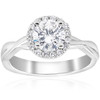 1 1/6 ct Diamond Halo Intertwined Engagement Ring 14k White Gold (G/H, I1)