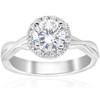 1 1/6 ct Diamond Halo Intertwined Engagement Ring 14k White Gold (G/H, I1)