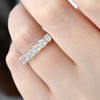 5ct Prong Diamond Eternity Ring 14K Yellow Gold (I-J, I2)