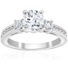1 ct Diamond Engagement Ring 3-Stone 14K White Gold (G/H, I1)