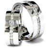3ct Matching Diamond Eternity Wedding Band Ring Set (G/H, I1)