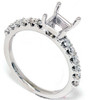 1/2ct Half Eternity Diamond Ring Setting 14K White Gold (G/H, SI)