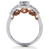 1 1/4 ct Diamond Lab Created Vintage Engagement Ring 14K White & Rose Gold (F, VS)