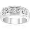 1 ct Mens Diamond Five Stone Wedding Ring 14k White, Yellow, Rose Gold (G/H, SI(1)-SI(2))