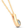 1/4ct Solitaire Round Diamond Pendant 14K Yellow Gold (White, I1-I2)