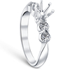1/2ct Diamond Semi Mount Engagement Ring 14K White Gold Round Setting (G/H, I1)