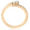 1/2ct Two Stone Diamond Forever Us Engagement Ring 10k Yellow Gold (I/J, I1-I2)