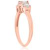 1ct 3 Stone Diamond Engagement Round Cut Ring 14k Rose Gold (I/J, I2-I3)