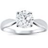 1 1/2ct 4-Prong Enhanced Diamond Solitaire Engagement Ring 14K White Gold (F, VS)