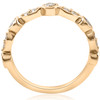 1/2ct Diamond Wedding Ring 14k Yellow Gold Stackable Bezel 3/4 Eternity Band (H/I, I1-I2)