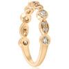 1/2ct Diamond Wedding Ring 14k Yellow Gold Stackable Bezel 3/4 Eternity Band (H/I, I1-I2)