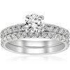 1 1/4ct Diamond Engagement Wedding Ring French Pave Set 14k White Gold (H/I, I1-I2)