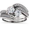 1.00CT Two Stone Diamond Engagement Ring1