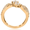 1 cttw Diamond Two Stone Forever Us Engagement Ring 14k Yellow Gold (H/I, I1-I2)
