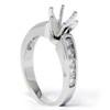 1/2ct Diamond Semi Mount Engagement Ring 14K White Gold (G/H, I1)
