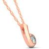 1/4ct Diamond Pendant 14K Rose Gold (G/H, I1)