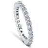 1.00CT Diamond Eternity Stackable Wedding Ring 14K White Gold (F, VS2-SI1)