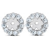 3/8ct Halo Diamond Earring Jackets 14K White Gold (4mm) (H-I, I3)