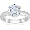 1 1/2ct Round Diamond Solitaire Engagement Ring 6-Prong 14k White Gold (F, SI(1)-SI(2))