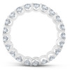 2 cttw Diamond Eternity Ring U Prong 14k White Gold Wedding Band (H-I, I1)