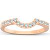 1/4ct Diamond Notched Guard Ring Enhancer 14K Rose Gold (I/J, I2-I3)