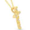 "1/5ct Diamond Cross Pendant 14K Yellow Gold 3/4"" Tall (G/H, I2)"