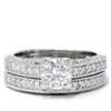 1 1/2ct Antique Diamond Ring Set 14K White Gold (G/H, I1)