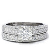1 1/2ct Antique Diamond Ring Set 14K White Gold (G/H, I1)