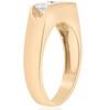 1 1/2ct Diamond Three Stone Mens Wedding 3 Round Jewelry Ring 10k Yellow Gold (H, I1)