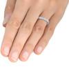 1/2ct Diamond Princess Cut Channel Set Wedding Ring 10k White Gold (H/I, I1-I2)