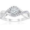 1 cttw Diamond Halo Infinity Engagement Ring 10k White Gold (H/I, SI2-I1)