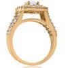 2ct Diamond Engagement Double Cushion Halo Wedding Ring Set 10k Yellow Gold (I/J, I2-I3)